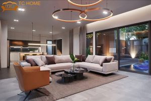 thiết kế phòng khách quận 12 - nội thất TC Home