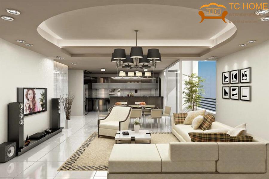 Trang trí phòng khách bằng đèn chùm HCM