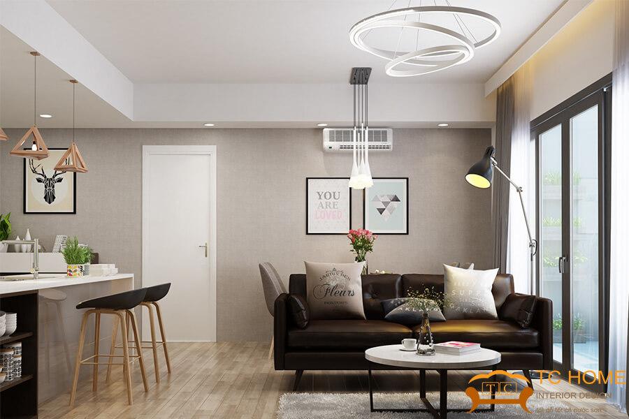 đèn thả trần trang trí phòng khách HCM