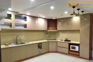 Tủ bếp acrylic An Cường - thi công tại Căn hộ Centum Wealth Quận 9