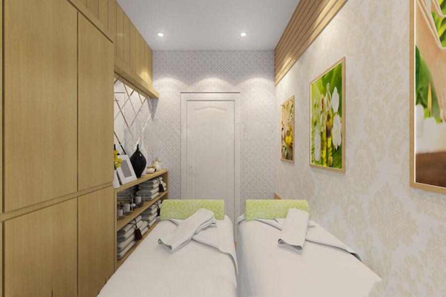 thiết kế nội thất spa 2 tầng
