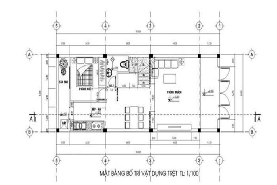 nội thất nhà ống2 tầng