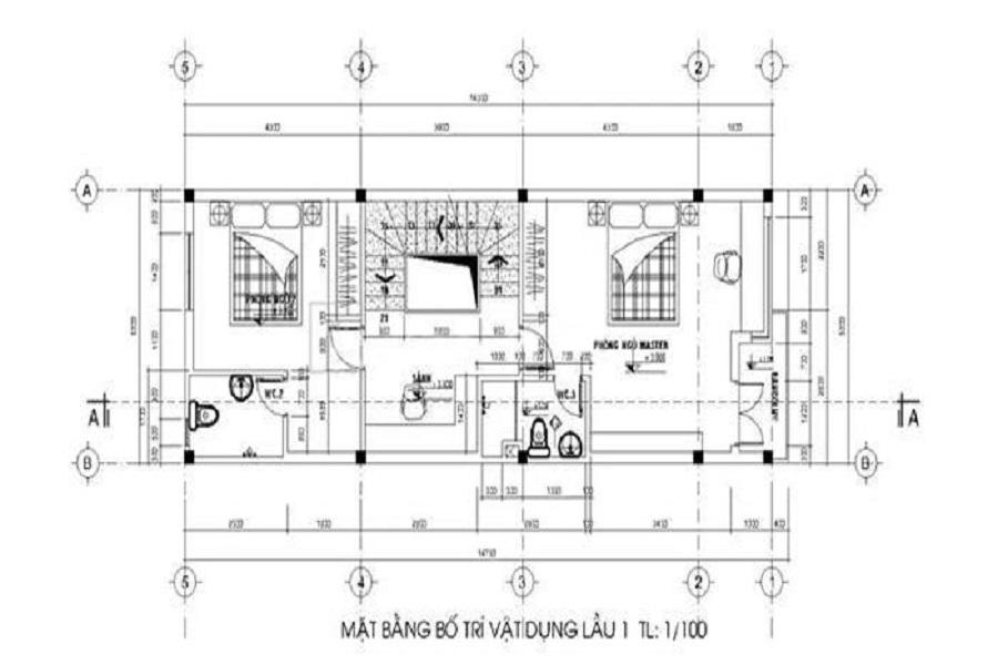 thiết kế thi công nội thất nhà ống 2 tầng