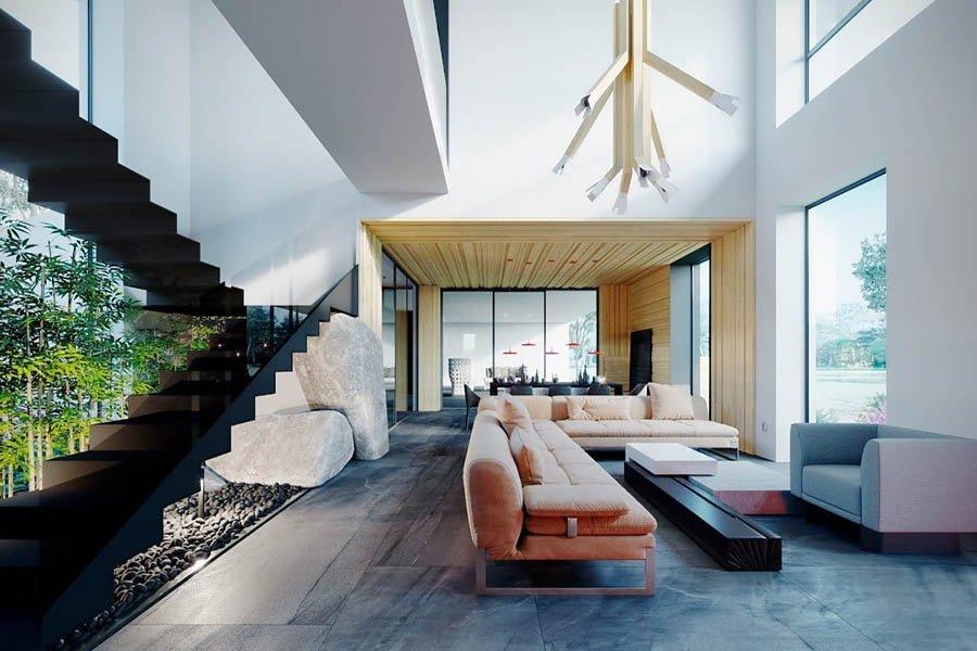 trang trí nội thất phòng khách hiện đại sang trọng