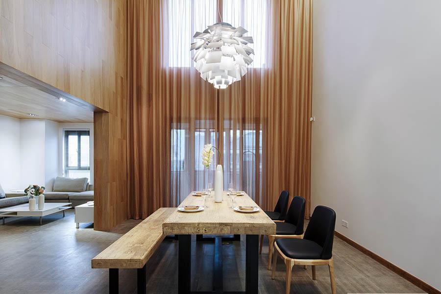 Thi công nội thất nhà phố phòng ăn tối giản hiện đại