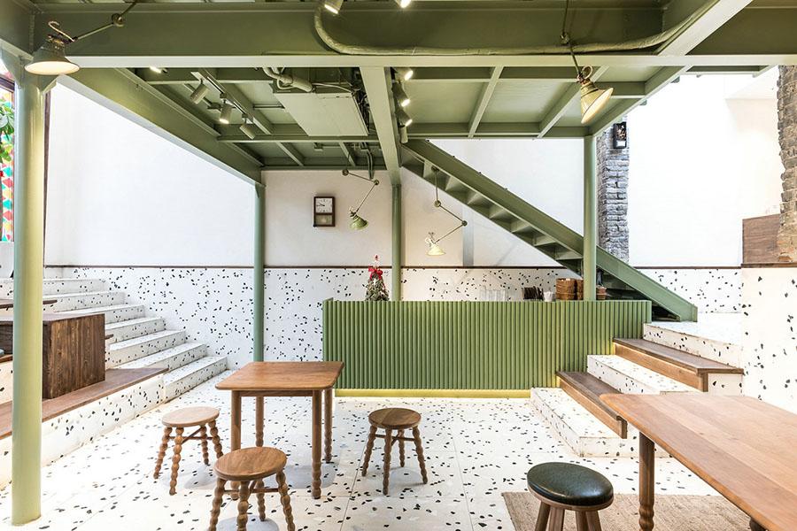 trang trí quán cafe phong cách retro