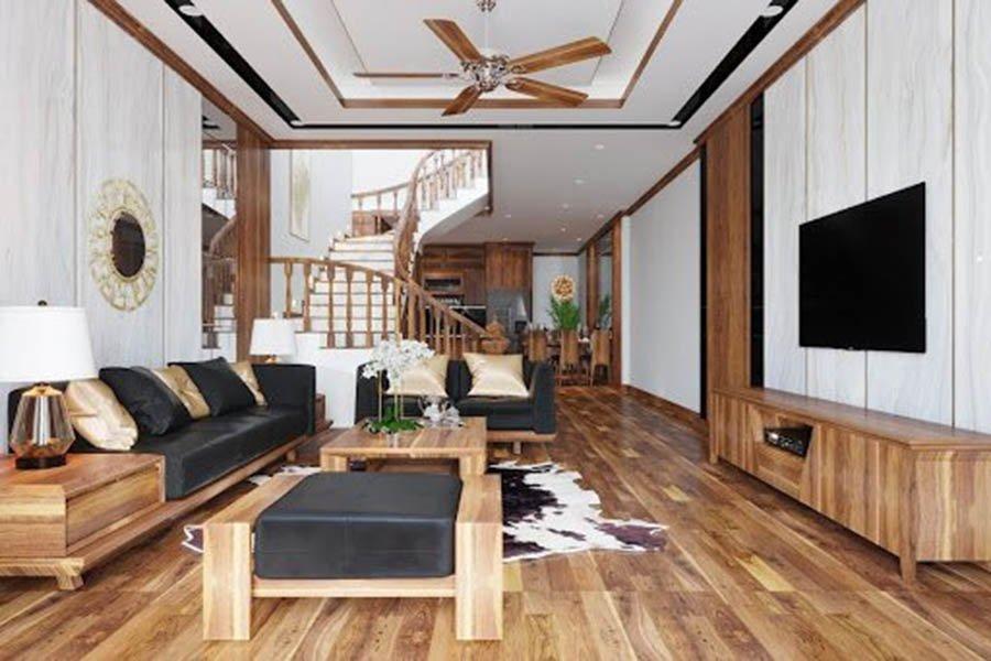 nội thất nhà phố 2 tầng hiện đại