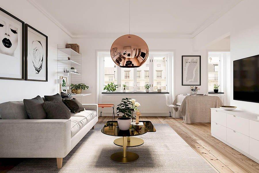thiết kế nội thất chung cư 70m2 giá rẻ