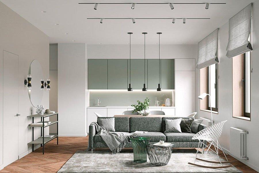 thiết kế nội thất chung cư mini 35m2