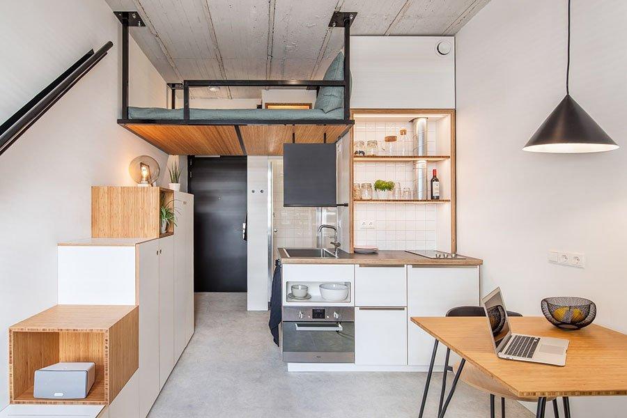 nội thất chung cư mini 35m2