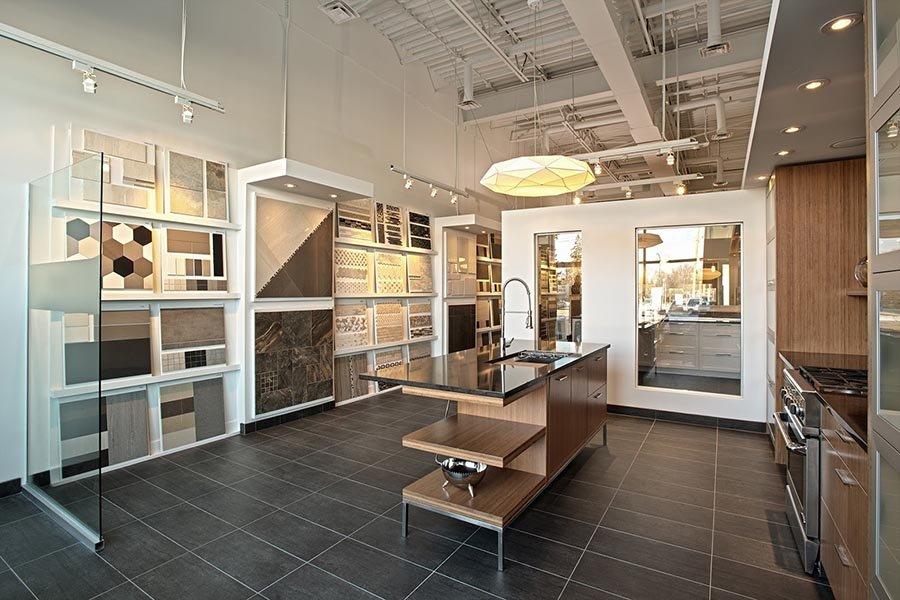 thiết kế showroom nội thất đơn giản