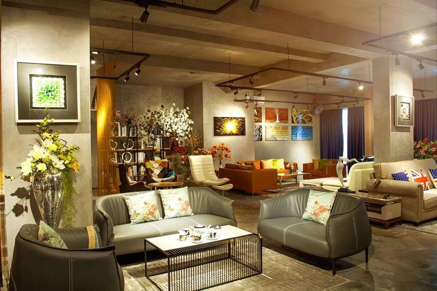 thiết kế showroom nội thất giá rẻ