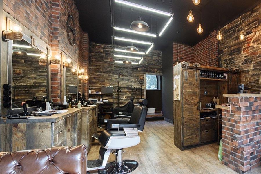 thiết kế tiệm hớt tóc phong cách LOFT