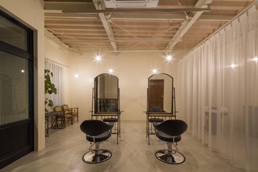 thiết kế salon tóc kiểu nhật