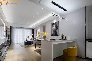 công trình thi công nội thất chung cư green rivier q8