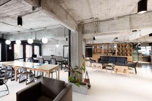 thiết kế văn phòng phong cách công nghiệp