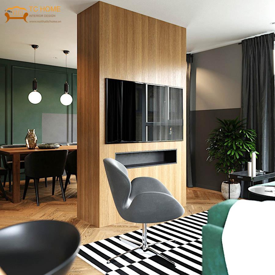 thiết kế căn hộ retro âu mỹ