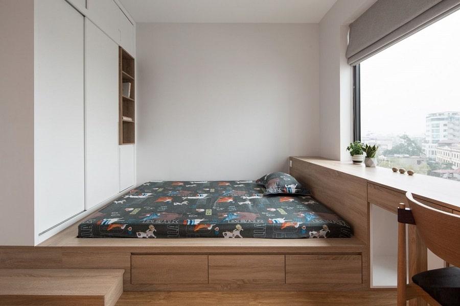 thiết kế nội thất chung cư 102m 3 phòng ngủ ngủ hiện đại (14)