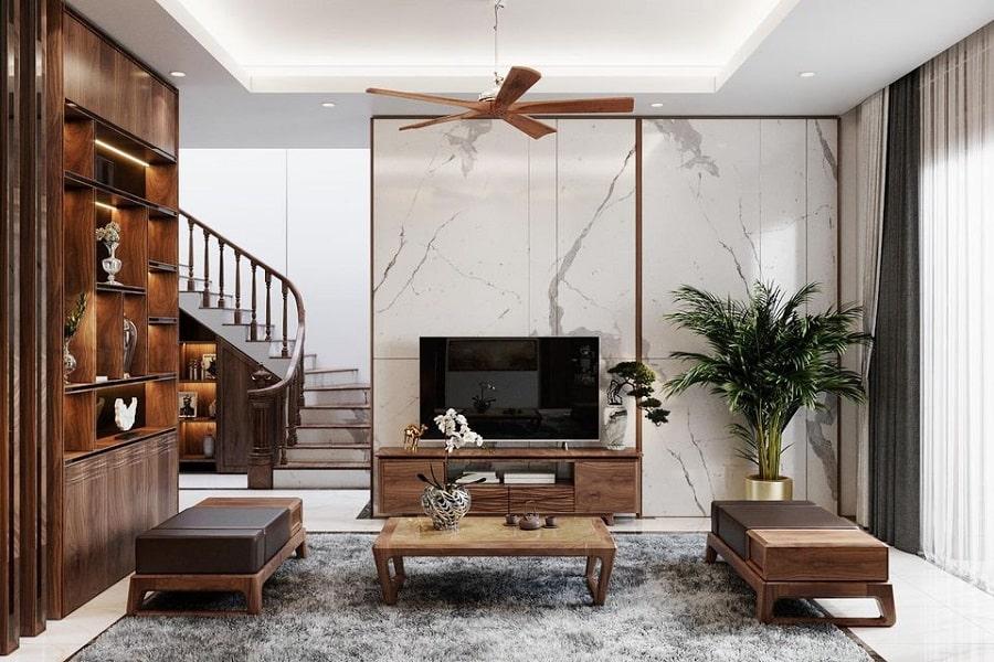 thiết-kế-nội-thất-nhà-phố-bằng-gỗ-óc-chó
