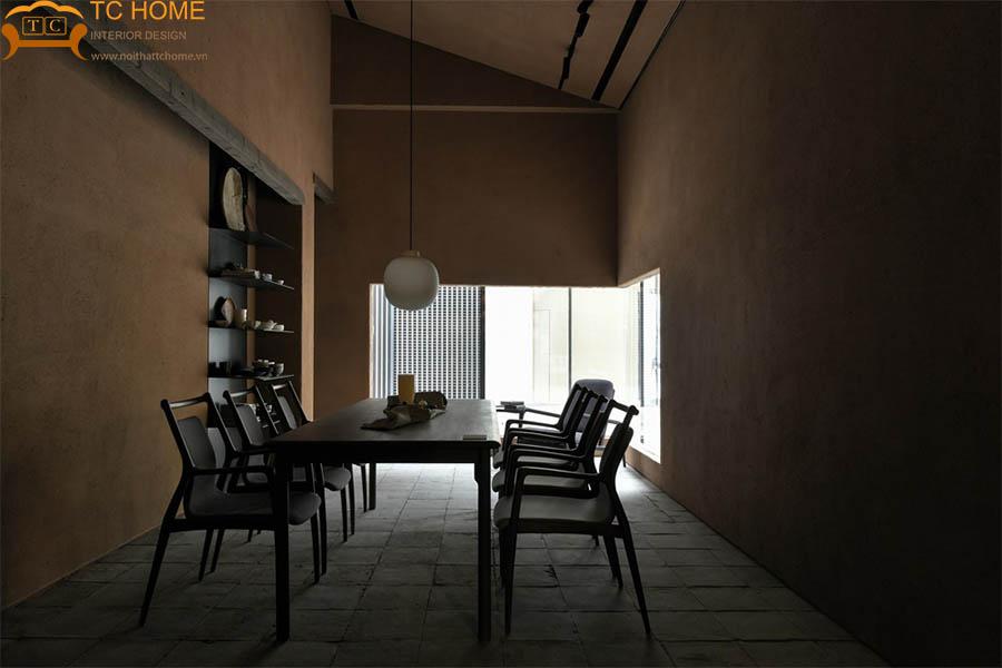 thiết kế shop nội thất phong cách wabi-sabi