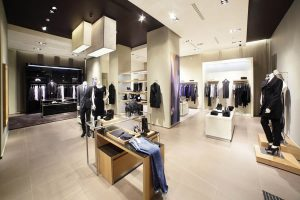 thiết kế shop thời trang nam phong cách châu Âu