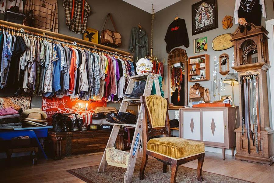 thiết kế shop thời trang vinatge