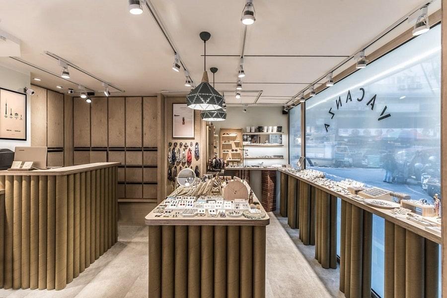 thiết kế showroom phong cách rutic hiện đại