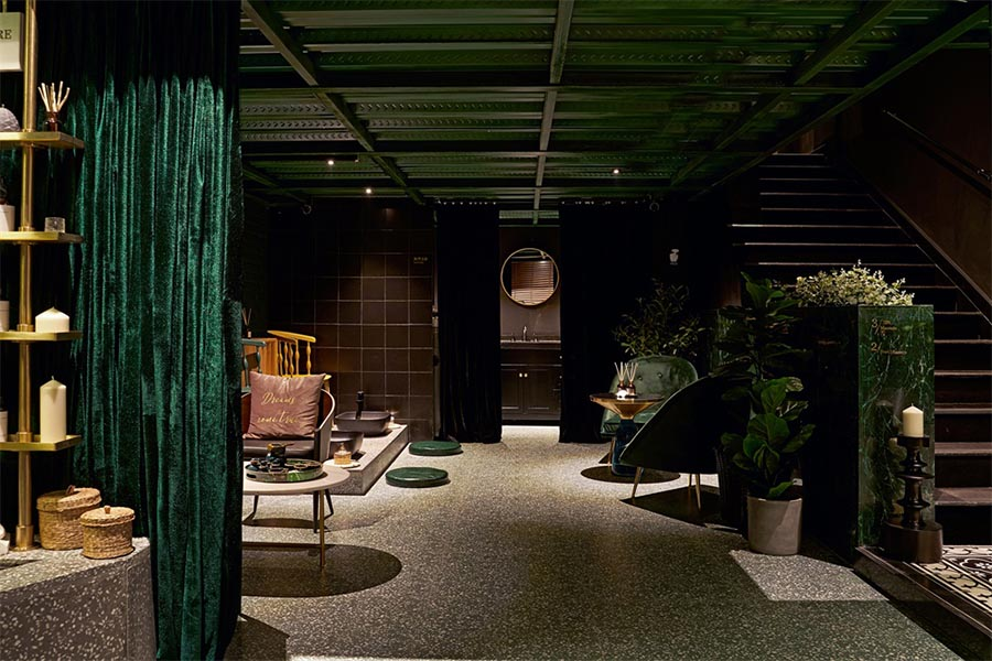 thiết kế tiệm spa và massage phong cách nhiệt đới