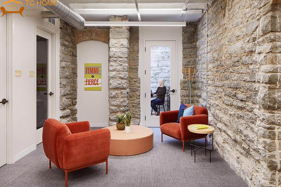 thiết kế văn phòng phong cách retro