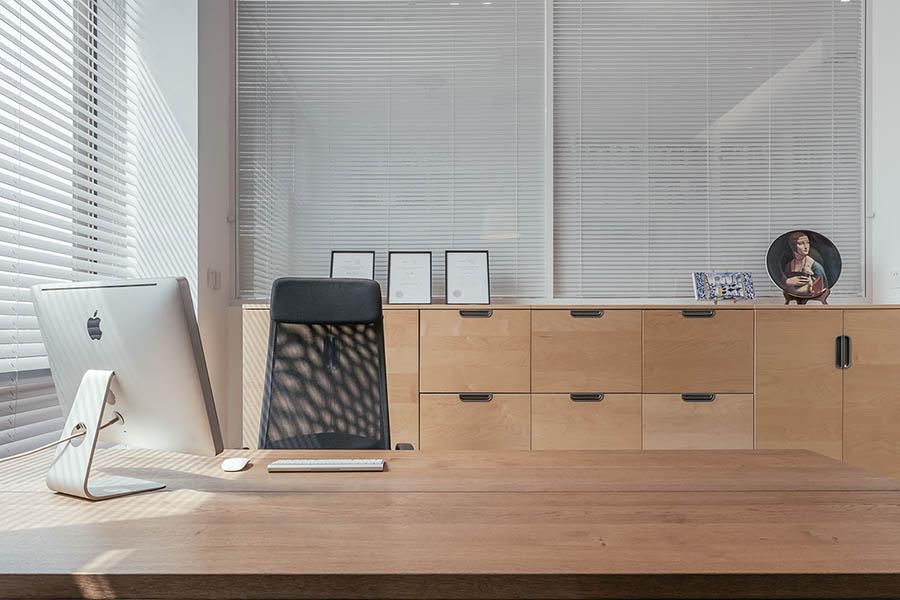 nội thất đơn giản nhưng tinh tế trong văn phòng