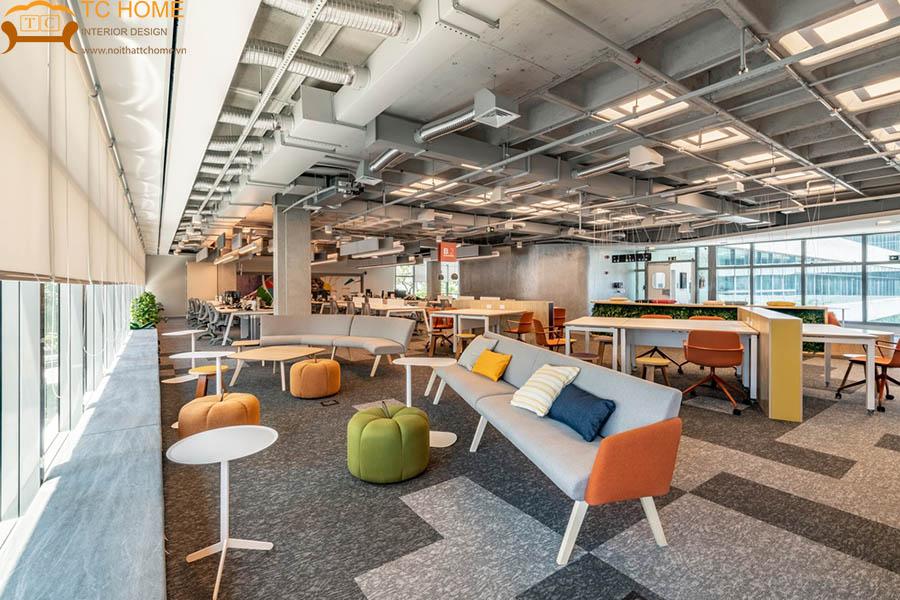 thiết kế nội thất văn phòng xanh q5